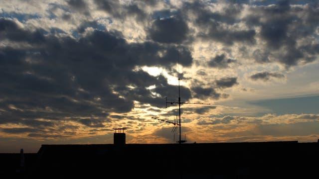 Wolken im Sonnenuntergang des 4. Februar 2014