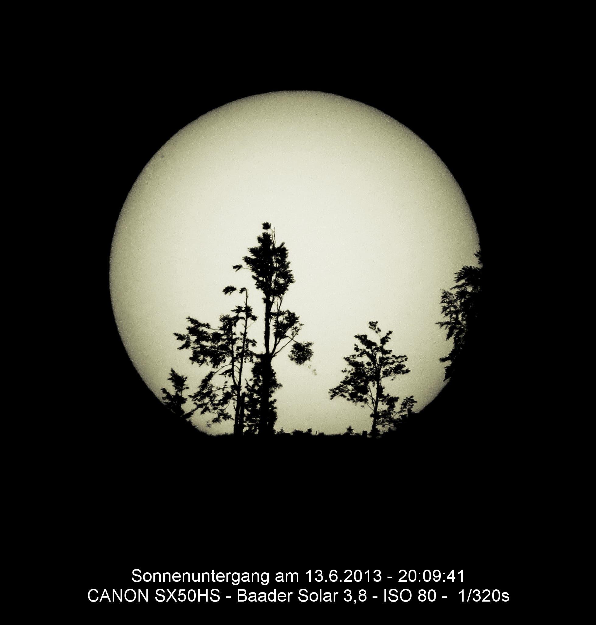 Sonnenuntergang 13. Juni 2013