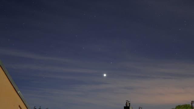 Venus bei Regulus, drei Tage nach der Konjunktion
