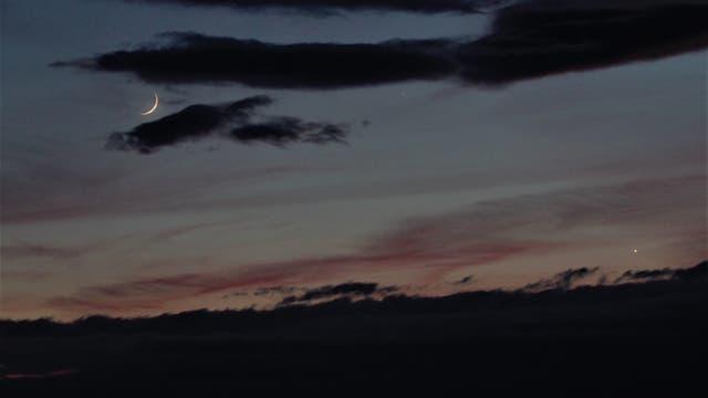Mond, Venus und Merkur