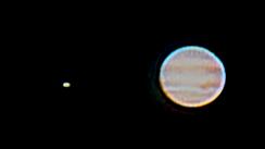 Jupiter durch kleines Teleskop