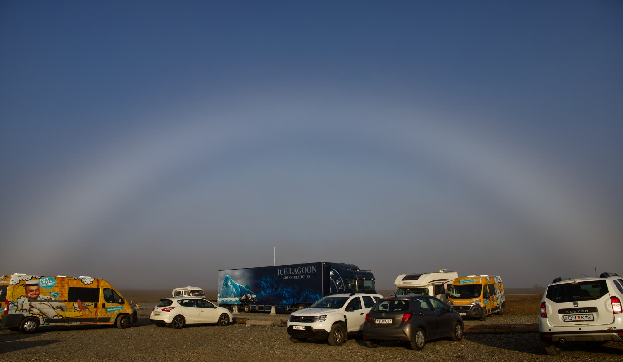 Der Nebelbogen in Jökulsarlon-Island