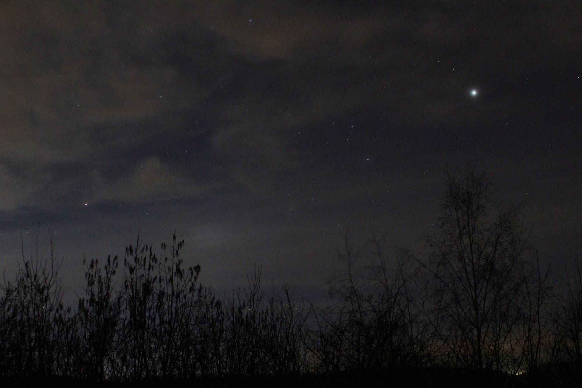 Mars und Jupiter am Morgenhimmel