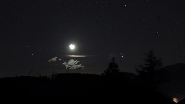 Mond bei Jupiter und Saturn