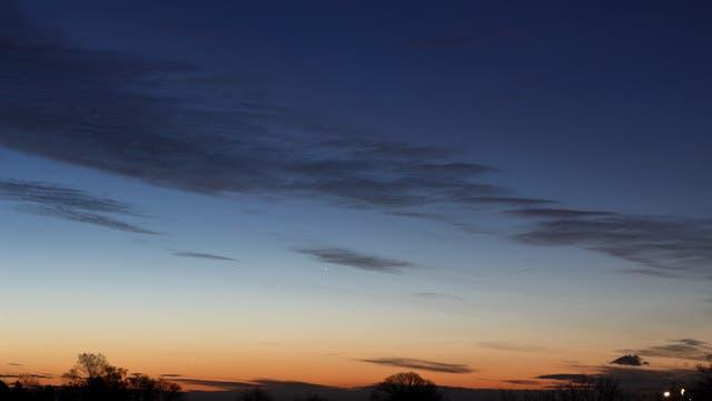 Jupiter und Merkur am Morgenhimmel des 23. Dezember 2018