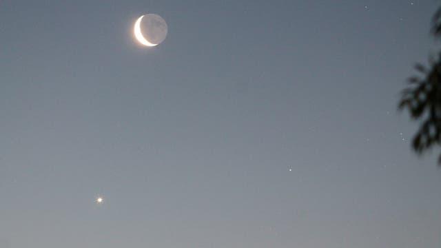 Mond, Venus, Aldebaran