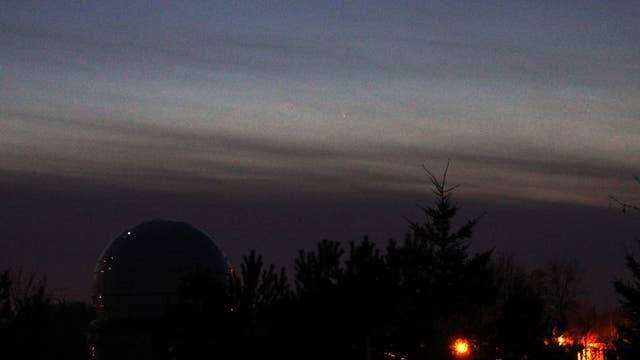 Komet PANSTARRS über der größten Sternwarte Sachsen-Anhalts