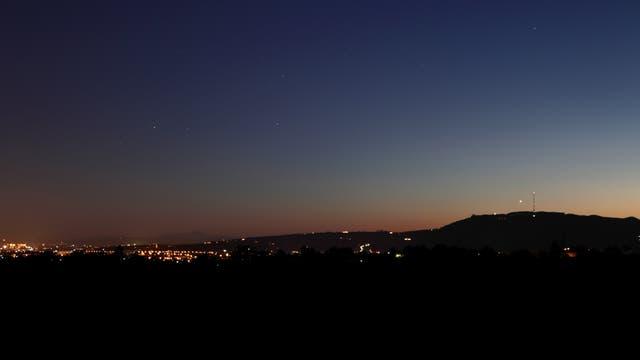 Abendstern Venus und Sternbild Skorpion