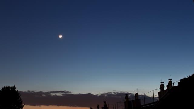 Mond, Merkur und Mars