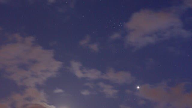 Venus, Mond und die Plejaden -2