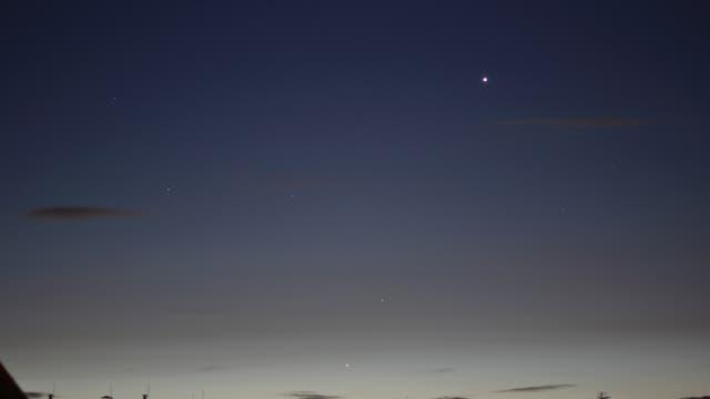 Morgenhimmel mit Venus, Merkur, Mars und Regulus