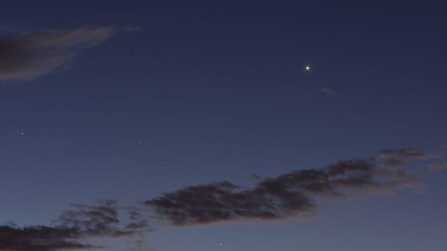 Morgenhimmel mit Venus, Merkur, Mars und Regulus 14. September 2017