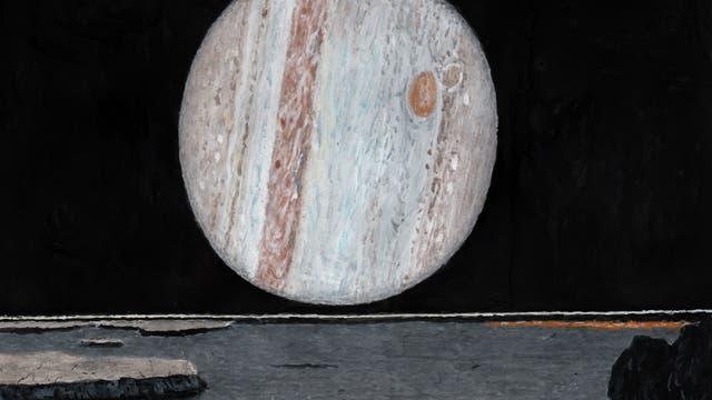 Jupiter von seinem Mond Io aus gesehen