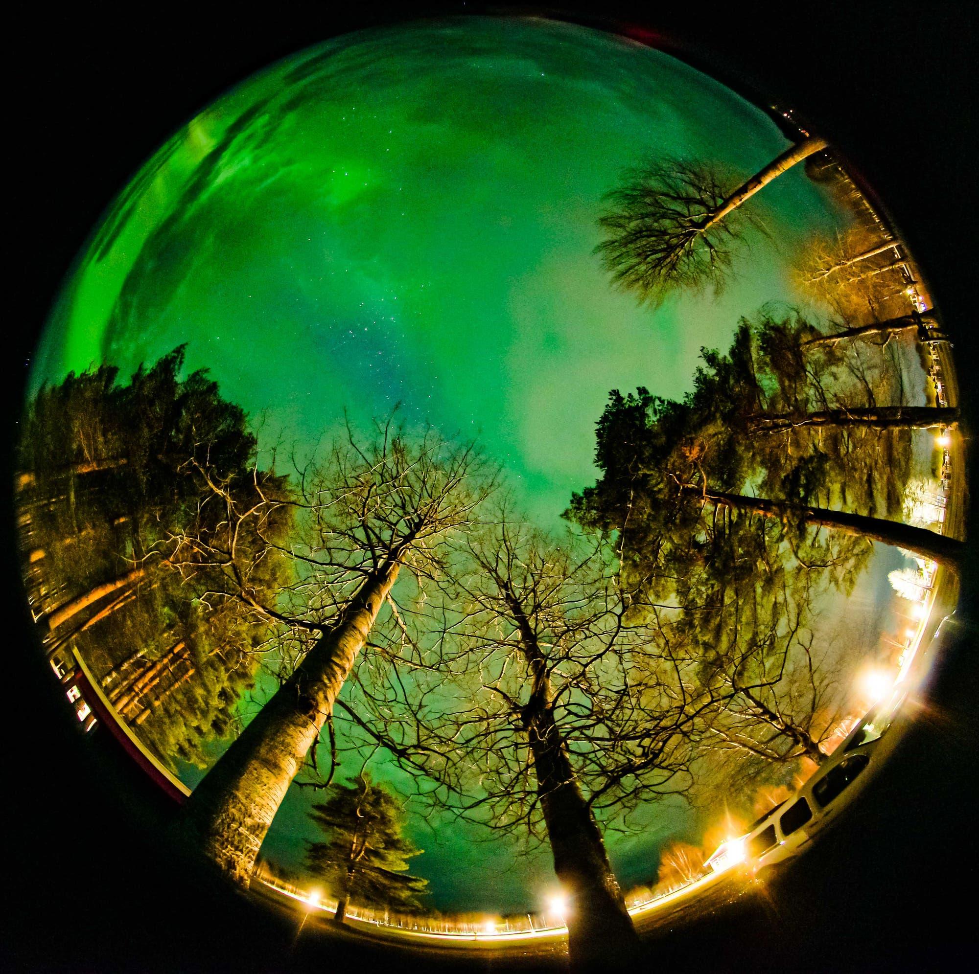 Grüner Himmel in Schweden