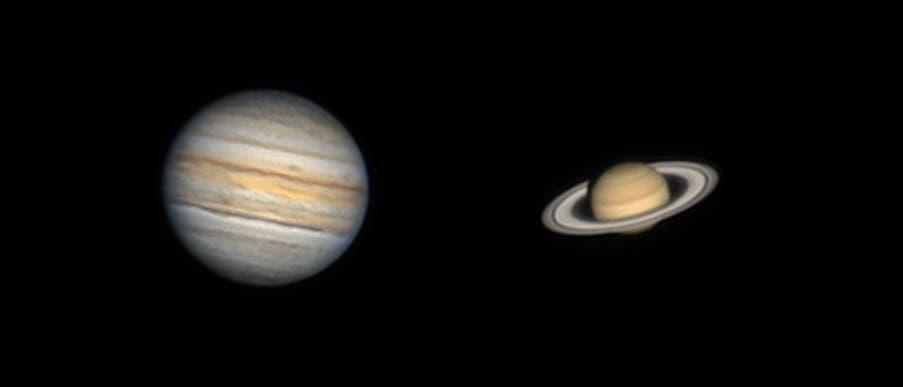 Jupiter und Saturn am 25. September 2021
