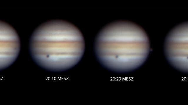 Sonnenfinsternis auf Jupiter