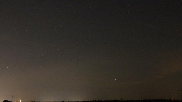 Jupiter am Abendhimmel