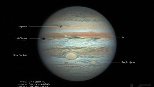 Jupiter mit Ganymed und Io