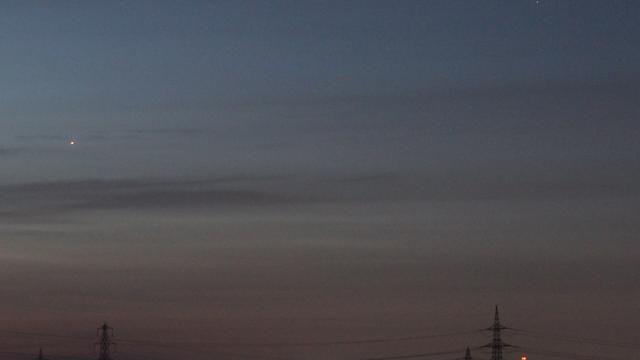Jupiter und Saturn am Morgenhimmel
