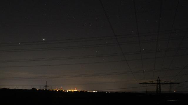 Jupiter, Saturn und Sternbild Schütze