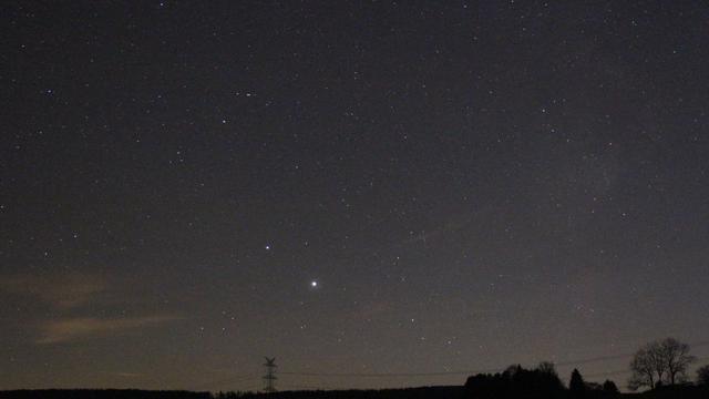 Jupiter und Saturn über dem Südwesthorizont