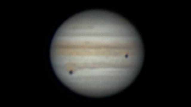 Jupiter, Kallisto und Io am 30. Juli 2021 - 1