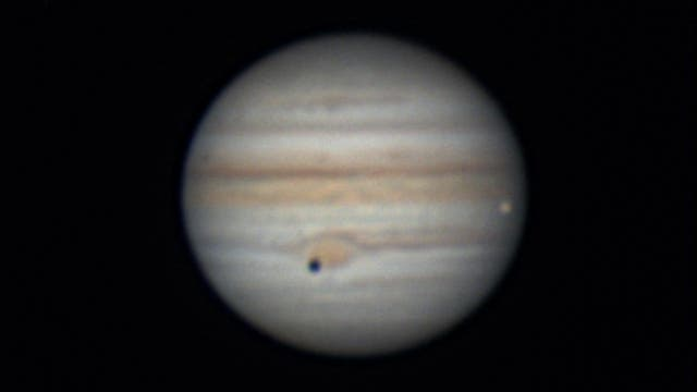 Jupiter, Kallisto und Io am 30. Juli 2021 - 2