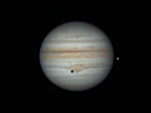Jupiter, Kallisto und Io am 30. Juli 2021 - 3
