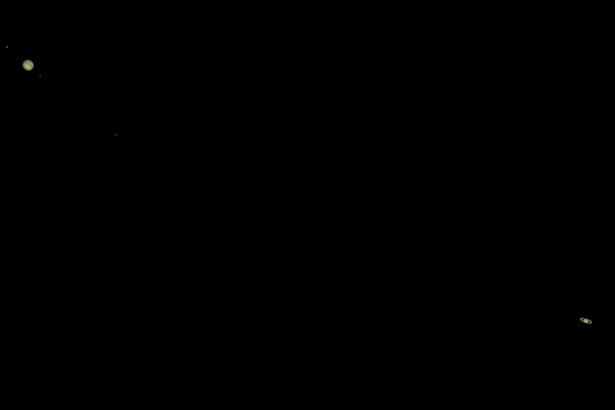 Jupiter und Saturn am 25. Dezember 2020