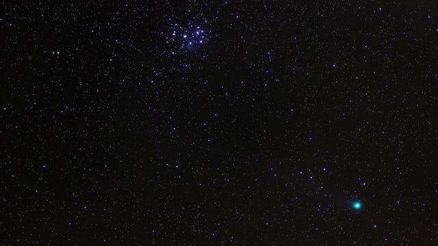 Komet Lovejoy C/2014 Q2 bei den Plejaden