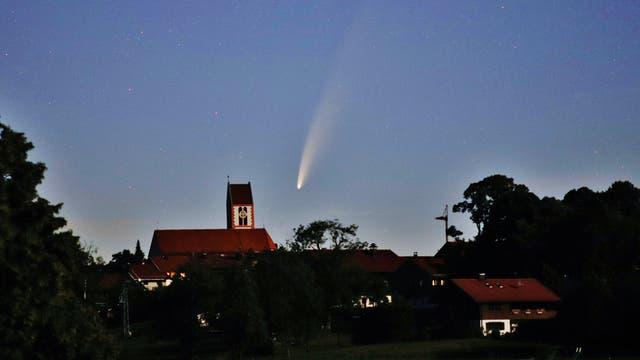 Komet NEOWISE über Wackersberg am 10. Juli 2020