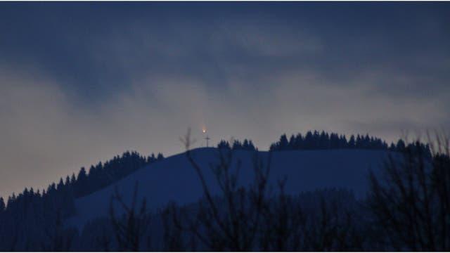 Komet PANSTARRS über dem Zwiesel