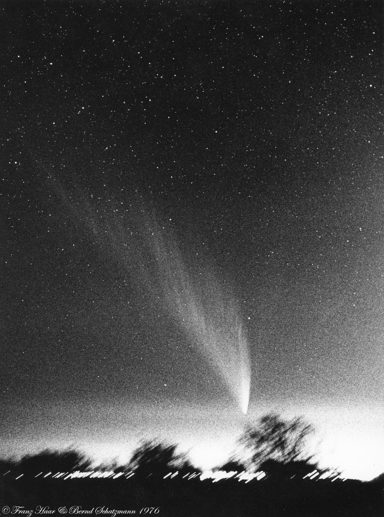 Komet West im Jahr 1976