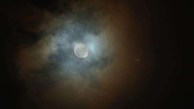 Konjunktion Jupiter und Mond