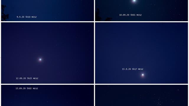 Venus wandert an Messier 44 vorbei