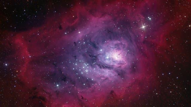 Messier 8 Lagunennebel in H-Alpha-LRGB