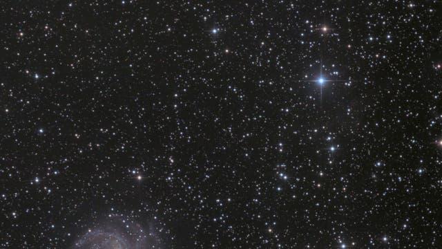 Supernova SN 2017eaw in NGC 6946 + offener Sternhaufen NGC 6939