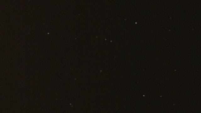 Komet Lovejoy, fotografiert mit einem Teleobjektiv