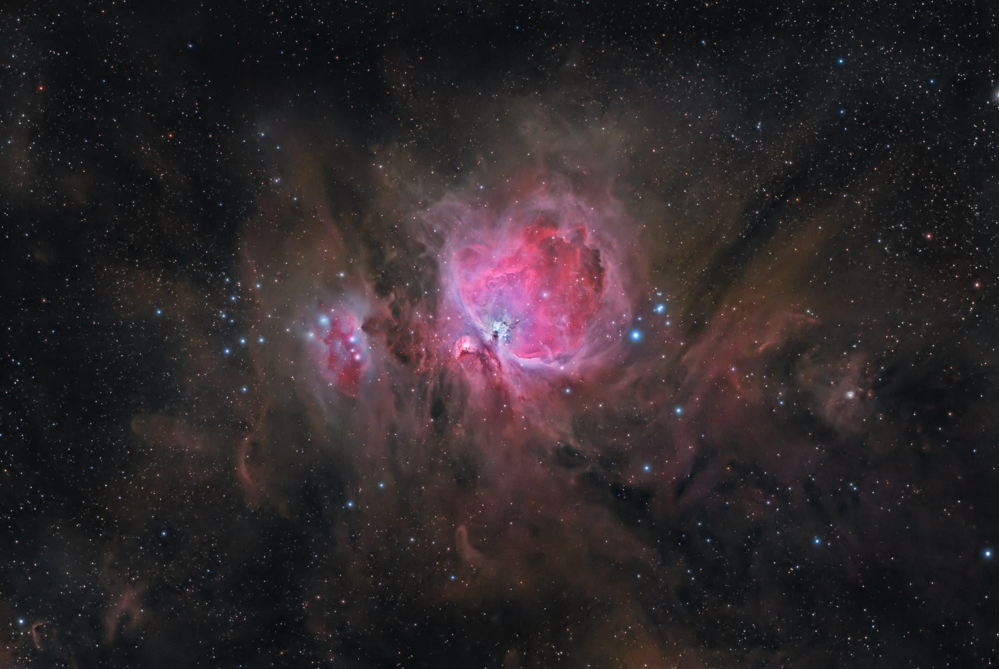 Orionnebel mit Umgebung