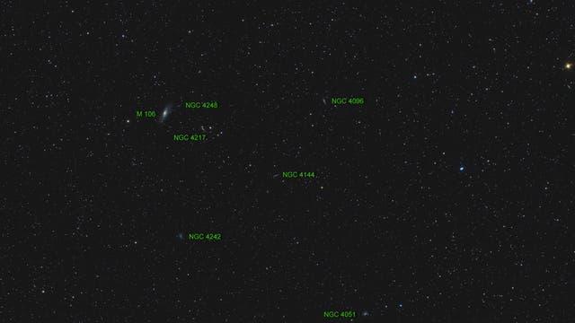 Messier 106 (Objekte)