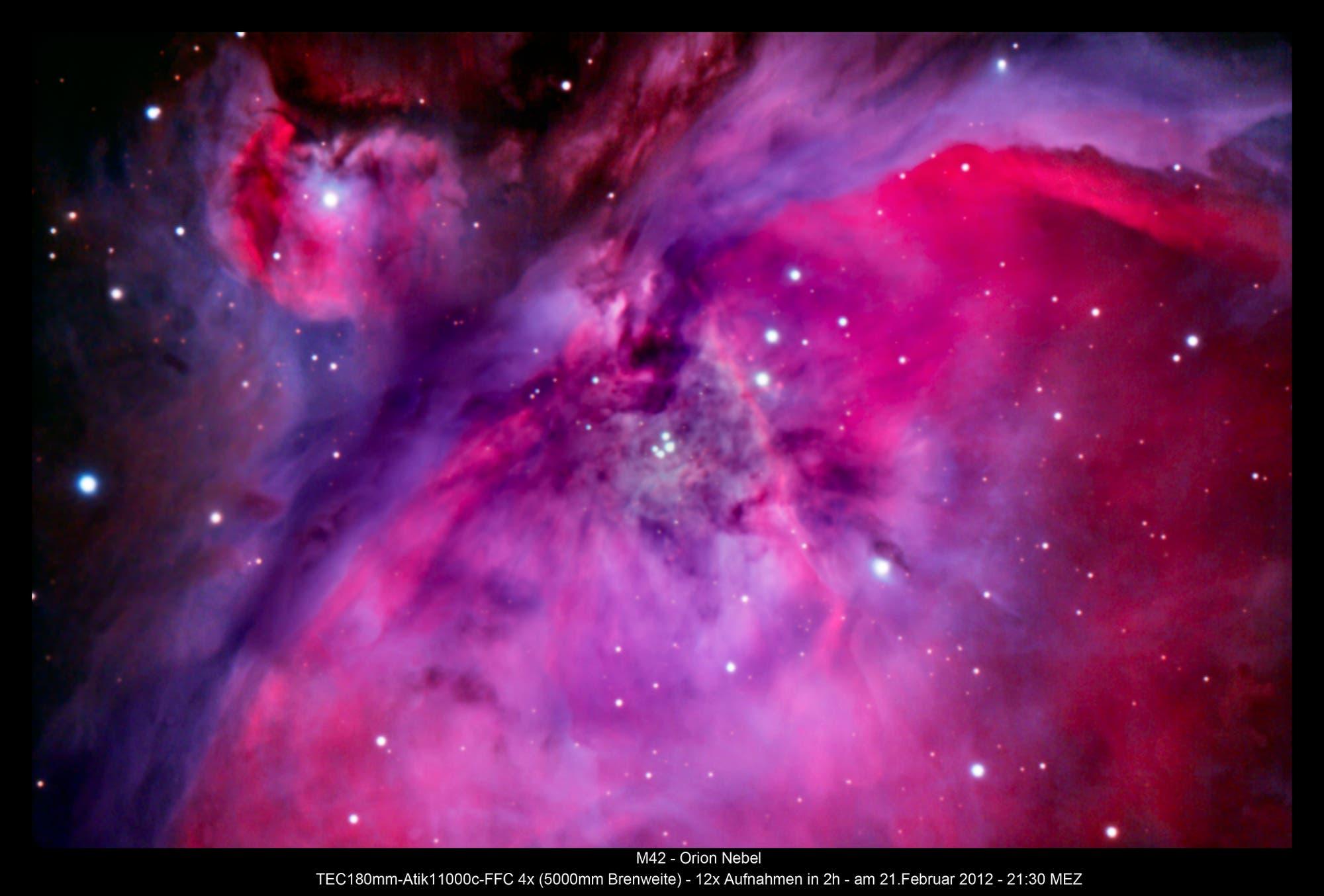 Zentrum des Orionnebels