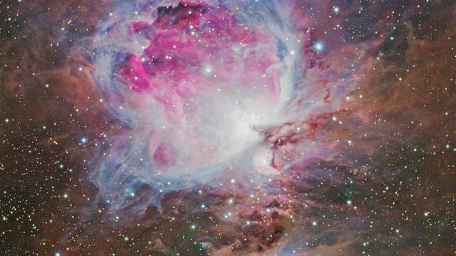 Orionnebel M42 mit blauem Nebelkomplex NGC 1773, 1775 und 1777