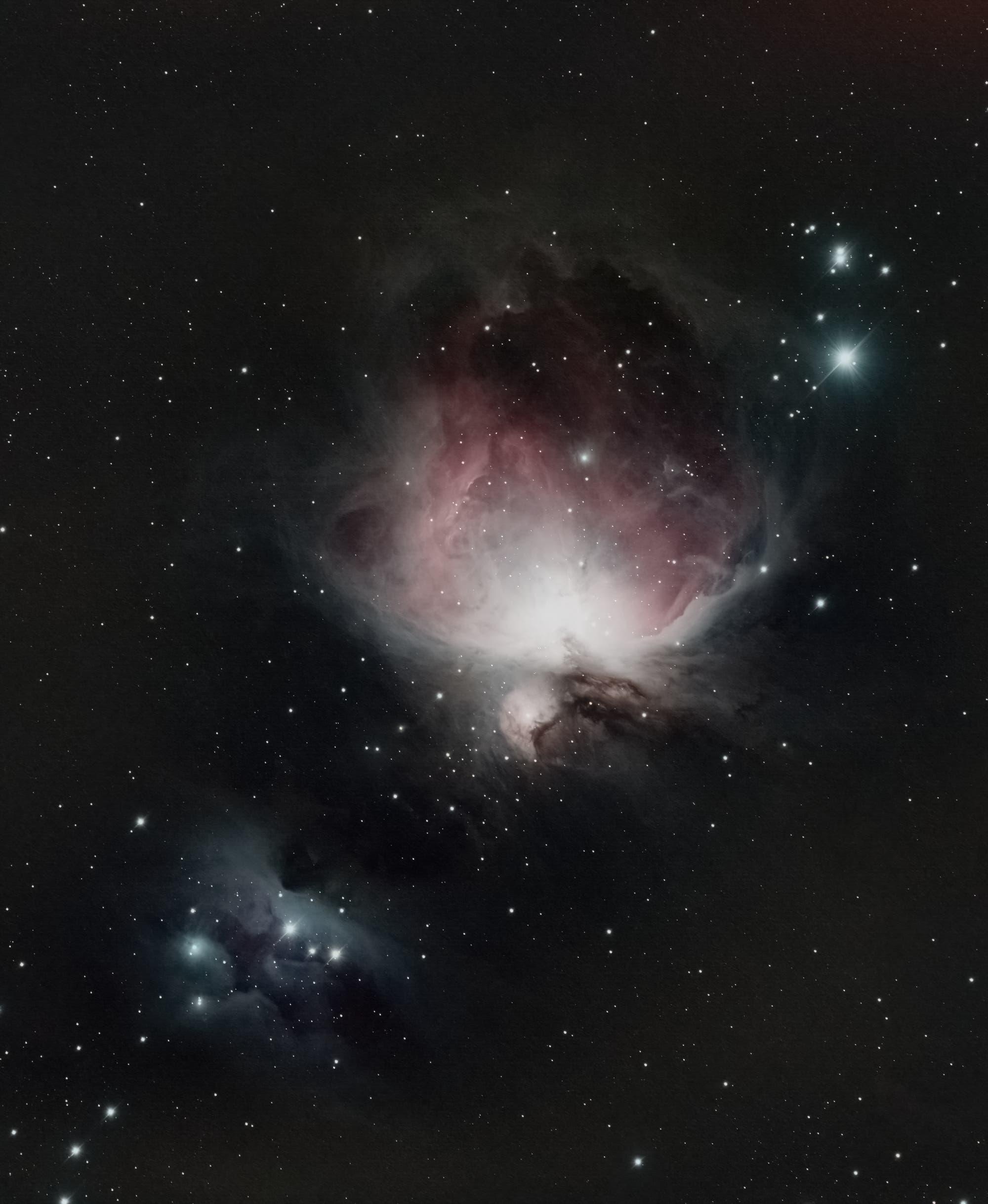 """Messier 42  """"Großer Orionnebel"""", NGC 1977 """"Running Man"""""""