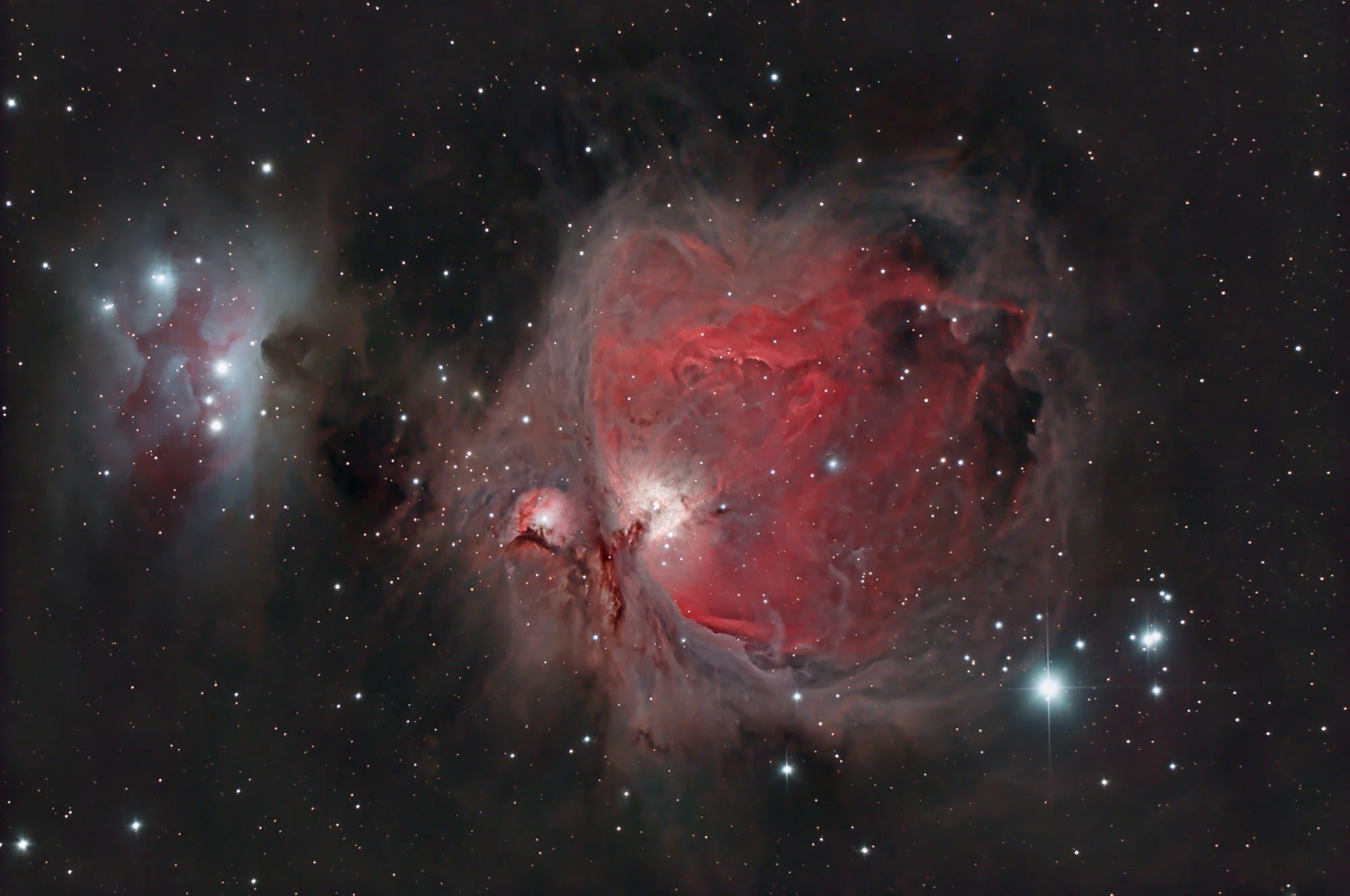 M 42 mit M 43 und NGC 1977