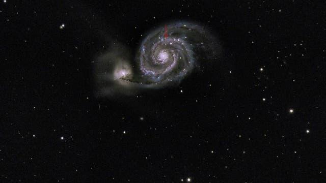 Leuchtkräftiger blauer Veränderlicher in Messier 51