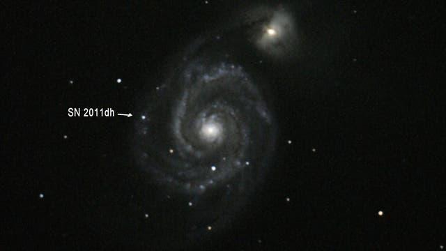 Galaxie M 51 mit Supernova 2011dh