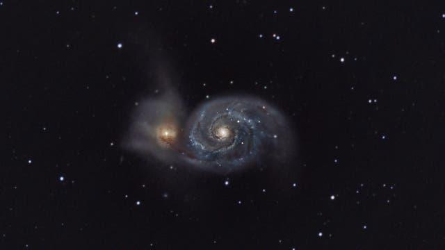 Whirlpoolgalaxie - Messier 51