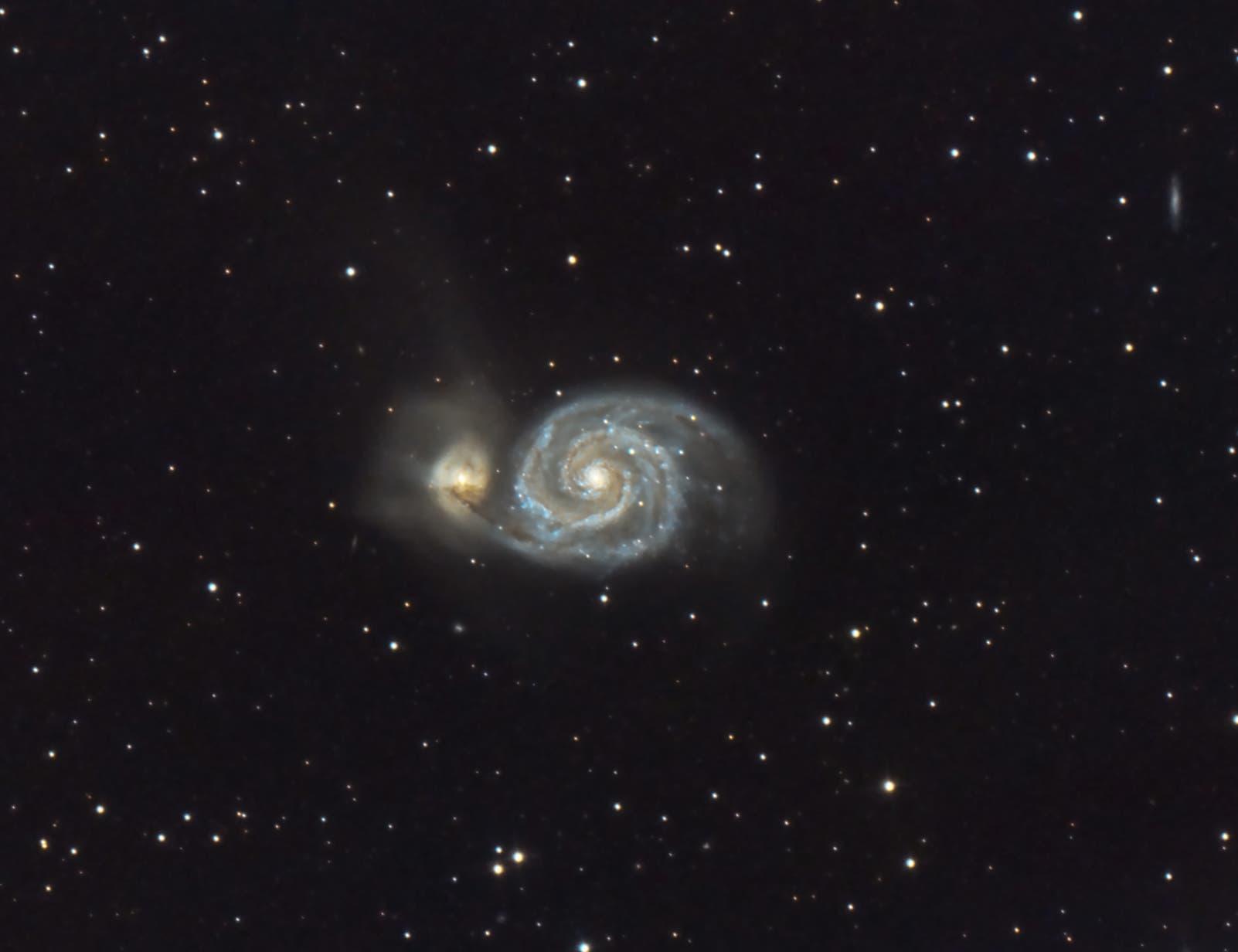Messier 51 Whirlpool-Galaxie