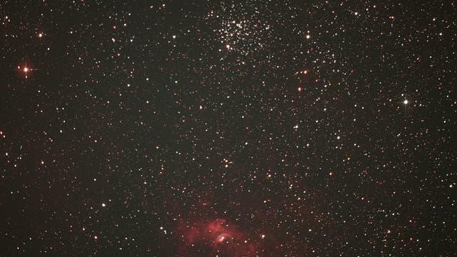 Offener Sternhaufen M 52 und Bubble-Nebel NGC 7635
