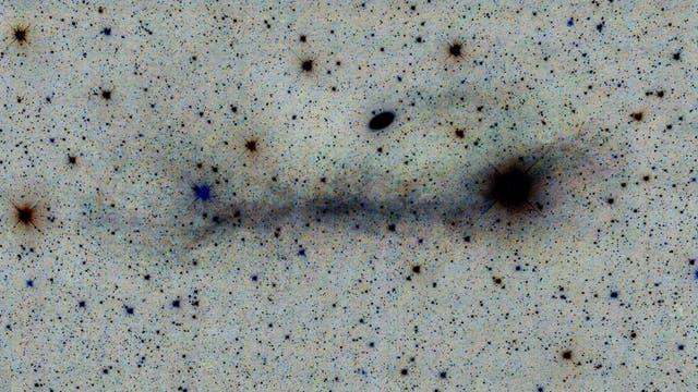 Messier 64 und IFN (inverse Ansicht)